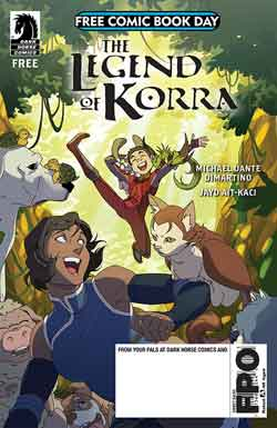 The legend of Korra FCBD - Free comic book day 2018