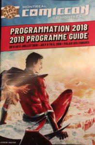 Montreal ComicCon Programmation 2018