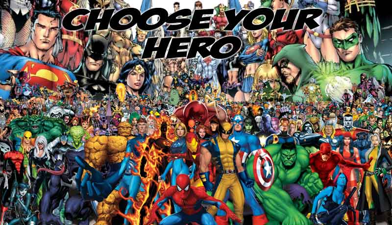 Comic book Heroes guide - What is the best comic book hero for me