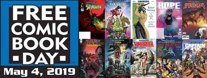 Free comic book day 2019 in our Montreal Store